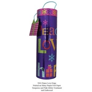 Tri-Coastal Design Wine Tube - Peace Love Hope
