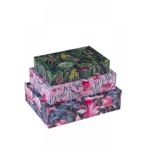 Tri-Coastal Design Rectangular boxes with ribbon pull, 3:n sarja - Bohemian Bloom