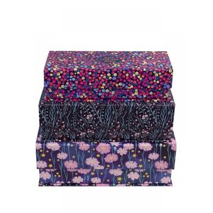 Tri-Coastal Design Set of 3 boxes - Bohemian Bloom