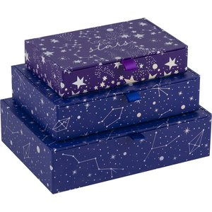 Tri-Coastal Design Rectangular boxes with ribbon pull, 3:n sarja - Ultraviolet Universe