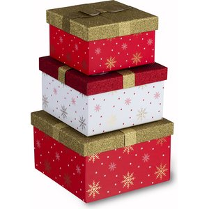 Tri-Coastal Design Present shaped boxes, 3:n sarja - Crimson Christmas
