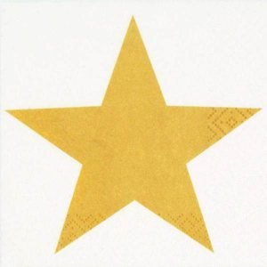Servetti, kahvi, 24x24 cm - Bright Star Gold