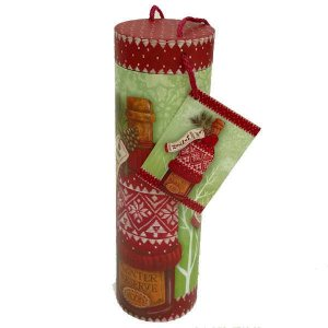 Tri-Coastal Design Wine Tube, 10x32,5 cm - Holiday Sweater, Lahjapakkaus viinipullolle
