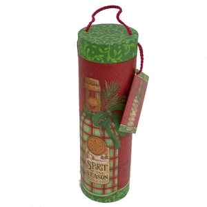 Tri-Coastal Design Wine Tube, 10x32,5 cm - Holiday Wine Plaid, Lahjapakkaus viinipullolle