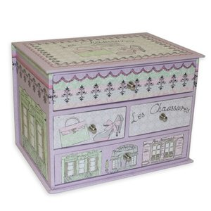 Tri-Coastal Design Drawer Bin Box - Shopping Boulevard, 4 vetolaatikkoa
